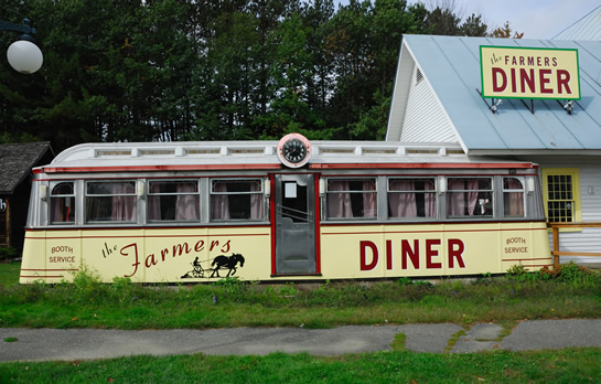 Farmers Diner in Quechee, Vermont